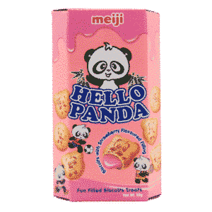 Hello Panda Kekse mit Erdbeerfüllung