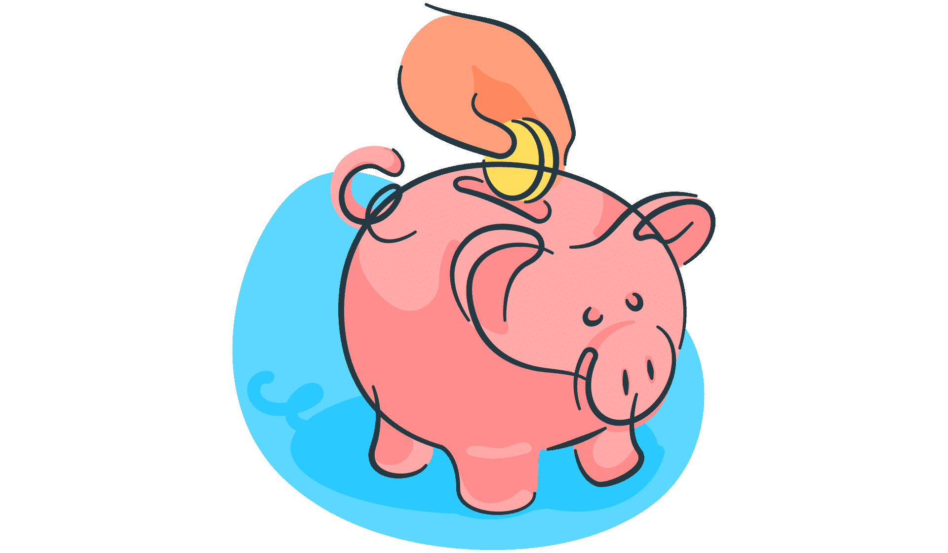 saving, piggy, bank, hand, gesture@2x