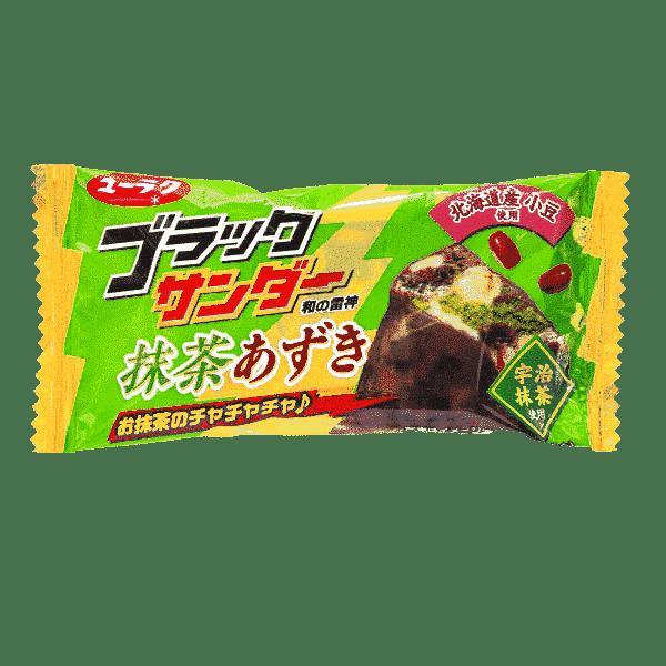 BLACK THUNDER Biskuit-Schoko-Riegel mit Matcha und roten Bohnen