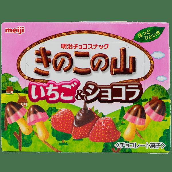 Kinoko No Yama Chocolat et Fraise