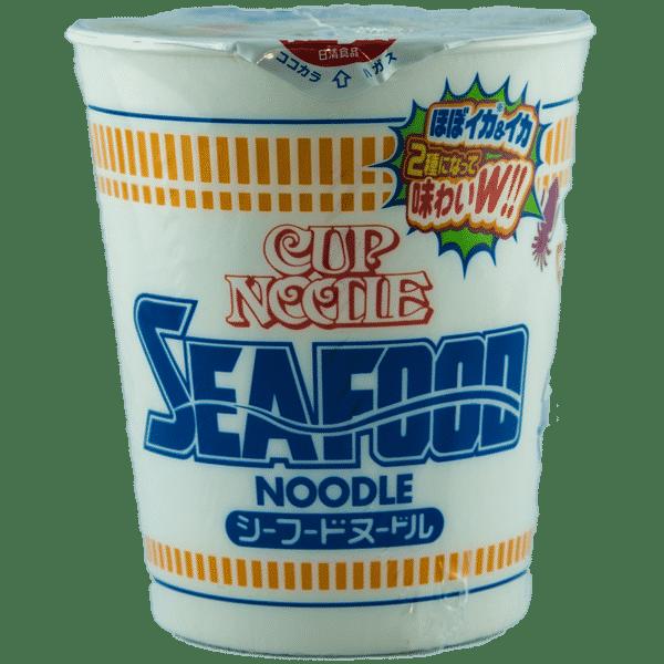 Tasse de nouilles aux fruits de mer