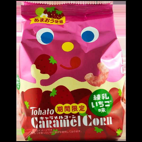 Snack de maïs caramel au lait de fraise