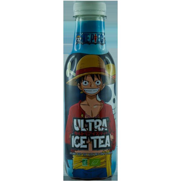 One Piece BIO-Eistee mit rotem Fruchtgeschmack - Luffy, 500 ml